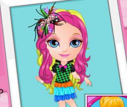 Minik barbie çılgın saçlar oyna