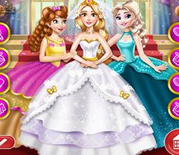 Rapunzel Ve Nedimeleri Elsa İle Anna oyna