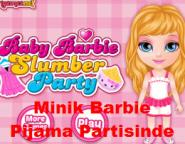 Minik Barbie Pijama Partisinde