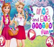 Elsa Ve Anna Ile Yumurta Boyama Oyna